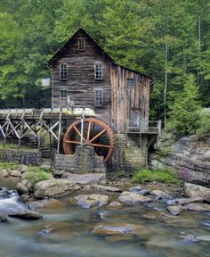 Glade Creek Grist Water Mill in Babcock State Park by BrendanReals, $45.00