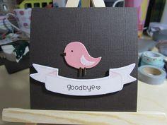 cute goodbye card