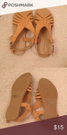 Sandals Size 8. Brand new without tags. Maurices Shoes Sandals