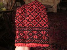 Ravelry: soxnsox's Dogwood Blossom Latvian Mittens in Chinese Red w/ Mustard Liners - Jansone #63