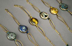 Ceramic bracelets   Seramik bilezikler Washer Necklace, Pendant Necklace, Ceramic Jewelry, Special Gifts, Porcelain, Jewellery, Bracelets, Painting, Porcelain Ceramics