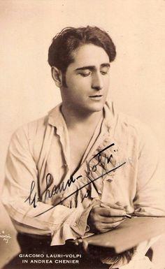 Lauri-Volpi, Giacomo - Signed Photo in Andrea Chenier 1930