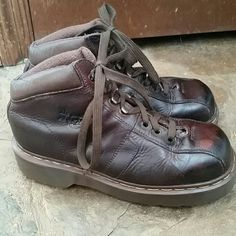 Doc Martens Air Wair Brown Boots Classic Doc Martens style! These boots are in great condition with some scuffs that give them character. Reasonable offers welcome through the offer button.  Bundle 2 or more items and save! Dr. Martens Shoes Ankle Boots & Booties