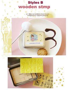 Korean DIY Wooden Stamp Set