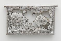 Kris Martin, honeycomb cast in bronze