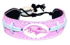 Baltimore Ravens Pink NFL Football Bracelet