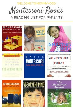 Montessori Book Recommendations for Parents by Welcome to Mommyhood, #parenting, #Montessori, #montessoriparenting