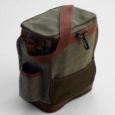 waxed canvas golf cooler bag from RedEnvelope.com $35