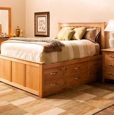 Amish Elegance Queen Bookcase Bed With 12 Underbed Drawers By Daniel 39 S Amish Wolf Furniture