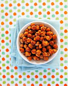 Spicy Roasted Chickpeas (Garbanzo Beans) | Cinnamon Spice & Everything Nice