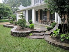Why should you have a rock front yard garden? There are some reasons why it is a great addition to your front yard. First, the rock garden is the ultimate solution to bring a natural feel to your outdoor space. Landscaping With Rocks, Front Yard Landscaping, Backyard Landscaping, Landscaping Ideas, Backyard Ideas, Farmhouse Landscaping, Modern Landscaping, Landscape Design, Garden Design