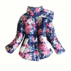 Amazon.com: Baby Girls Faux Fur Fleece Outwear Coat Kids Winter Warm Floral Down Jacket NWT: Clothing