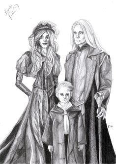 Malfoy Family Portrait by BabsiInDreams.deviantart.com on @deviantART