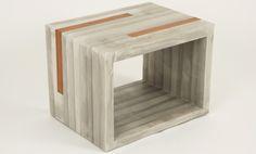 Jeremy Kaplan's lightweight concrete sidetable - intended for bedside