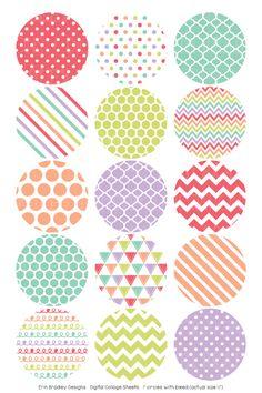 Sugar Digital Bottle Cap Images – Erin Bradley/Ink Obsession Designs