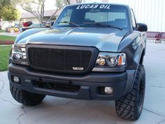 2006-2012 Ford Ranger XLT & 4X4 (Except Sport Edition) - Billet Grille Insert - 21 Bars - All Black Powdercoat