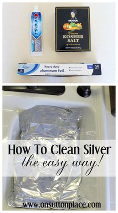 Step by step directions on how to clean silver (the easy way!) using a tin foil bath. The perfect solution before hosting that big party!