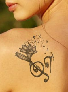Tattoo Idea - Flower Music - Tattoo Ideas Central