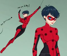 Older Ladybug design, very popular on tumblr now. (Miraculous Ladybug)