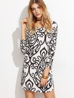 Shop Black And White Print Sheath Dress online. SheIn offers Black And White Print Sheath Dress & more to fit your fashionable needs. Dress P, Sheath Dress, Bodycon Dress, Billboard Women In Music, Latest Dress, Dresses Online, Cute Dresses, Spring, Urban Outfitters