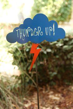 Hostess Gift-Thunder Up Garden Stake from Garden Deva