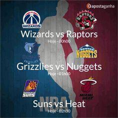 Fechando o dia desportivo no Apostaganha, apresentamos alguns prognósticos do Basket da NBA... Confere!!!  http://www.apostaganha.com/2016/01/08/prognostico-apostas-suns-vs-heat-nba-111/  http://www.apostaganha.com/2016/01/08/prognostico-apostas-grizzlies-vs-nuggets-nba-12121/  http://www.apostaganha.com/2016/01/08/prognostico-apostas-wizards-vs-raptors-nba-12121/  Já conheces a Betboro? Uma casa de apostas confiável com inúmeras opções de apostas e um bônus inicial de até 100 Euros…