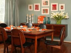 My Life in Color ...and Everything in Between: Blue and Orange (Terracotta) Room