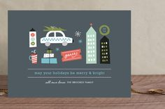 Holidays in the City Holiday Non-Photo Cards by Carolyn MacLaren at minted.com