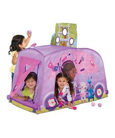 Doc McStuffins Mobile Clinic Play Tent #zulilyfinds  sc 1 st  Pinterest : elmo play tent and tunnel - memphite.com