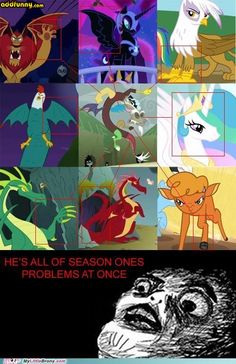 Discord is two dragons two princesses a buffalo a lion-scorpion and a cockatrice all in one? Save us all. My Little Pony Fotos, Imagenes My Little Pony, My Little Pony Comic, My Little Pony Pictures, Pokemon Mew, Equestria Girls, Mlp Memes, Mlp Fan Art, Mlp Comics