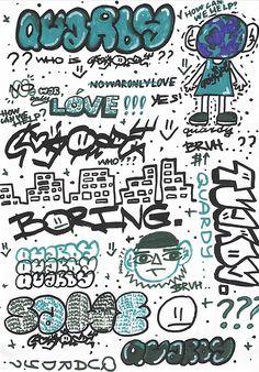 Graffiti Piece, Graffiti Wall Art, Graffiti Styles, Street Art Graffiti, Graffiti Lettering Alphabet, Graffiti Writing, Graffiti Tagging, Sticker Street Art, Comic Style Art