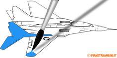 33 disegni di aerei da stampare e colorare anche in versione album
