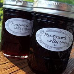 easy, easy jelly - pomegranate jelly.   Can be done with just about any fruit juice.