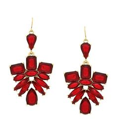 Midnight Mysteries Earrings - Maroon  https://shoplately.com/product/165731/midnight_mysteries_earrings_maroon  #shoplately #earrings #statementearrings #red #fashion