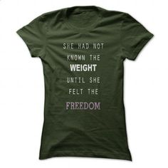 Weight vs Freedom - #long sleeve shirt #cool tshirt designs. BUY NOW => https://www.sunfrog.com/LifeStyle/Weight-vs-Freedom-Forest-53041061-Ladies.html?60505