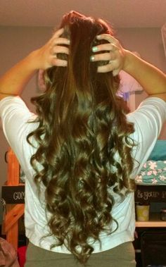 Long curly hair. Wish I could do this more often