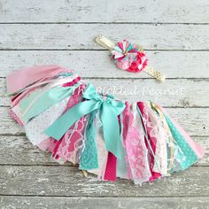 Pink Teal Gold 1st Birthday Outfit Baby Girl Baby Tutu Baby Skirt Shabby Chic Fabric Tutu Birthday Tutu Pink Gold Birthday Glitter Sparkle by ThePickledPeanut on Etsy https://www.etsy.com/listing/232610698/pink-teal-gold-1st-birthday-outfit-baby