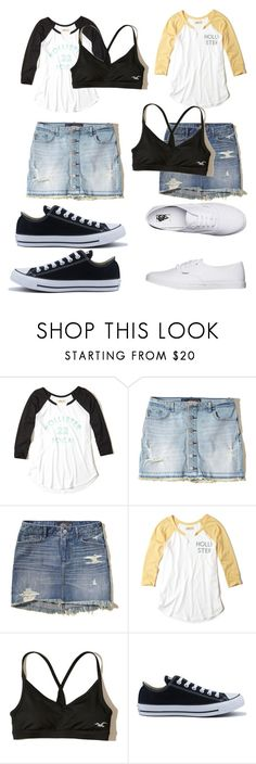 """""""Outfit 1593"""" by that-girl-j ❤ liked on Polyvore featuring Hollister Co., Converse and Vans"""