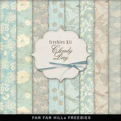 Far Far Hill: Freebies Background Kit - Сloudy Day