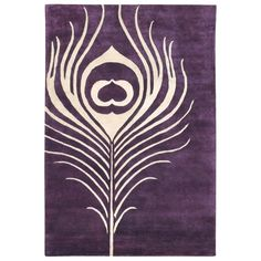 "$351.00 Tickle your senses with Thomas Paul's graphic, modern rendering of the legendary ""thousand eyes"" in the cream and plum Feather rug. Hand-tufted from premium New Zealand wool for maximum sheen, a luxurious soft feel and true longevity."