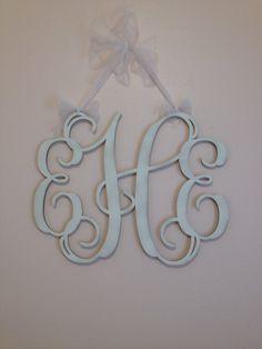 "Home Decor, 24"" Wooden Monogram, Wall Art, Initial monogram,Unpainted, Unfinished,Wedding Decor on Etsy, $17.95"