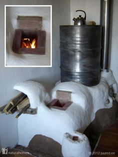"""""""For those of you looking for an inexpensive and efficient off-grid heating system; this is the rocket stove."""" -Natural Homes share Off The Grid, Rocket Mass Heater, Stove Heater, Natural Homes, Rocket Stoves, Earth Homes, Natural Building, Earthship, Herd"""