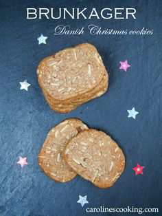 Brunkager (Danish Christmas cookies) - a delicious spiced cookie with almonds, this version made slightly healthier. #IntnlCookies