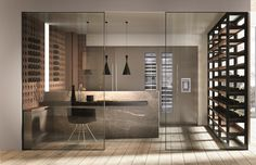 Kitchen with peninsula without handles DOMINA | Kitchen with peninsula - Aster Cucine