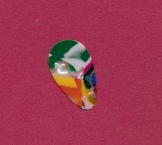Vintage Mosaic small teardrop guitar pick (pick b) #GuitarPick