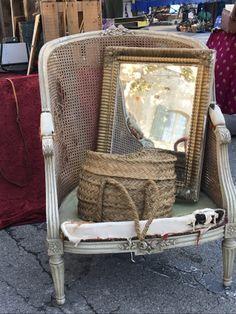 French la vie, brocante, Provence France, Provence, Wicker, Alice, Dreams, Chair, Lady, Furniture, Home Decor