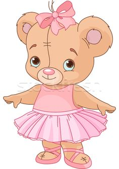 Cute Teddy Bear Ballerina - ilustração de vetor por Anna Velichkovsky (Dazdraperma) - Stockfresh #2011845