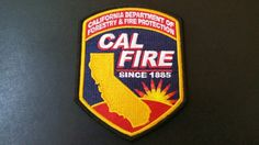 California Division of Forestry and Fire Protection (CalFire) Patch (Current Issue)