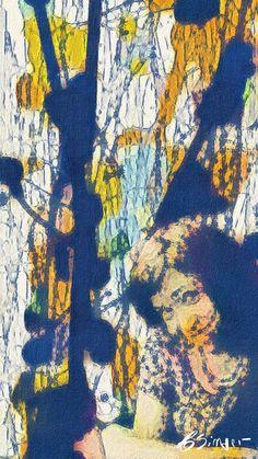 ARTES, DESARTES E DESASTRES CONTEMPORÂNEOS. Minha ruivinha em azul (My redhead in blue) 0,45 x 0,25 Mixed midia sobre papel