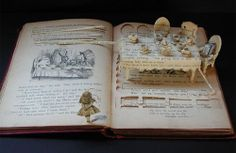 """Alice In Wonderland """"book carving"""" :: Su Blackwell :: this is brilliant.and not just because I love alice in wonderland. Alice In Wonderland Book, Adventures In Wonderland, Alice Book, Altered Books, Altered Art, Books Art, Library Books, Grand Art, Up Book"""